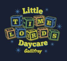 Little Time Lords Daycare Gallifrey Doctor Who Youth Tee Kids Clothes