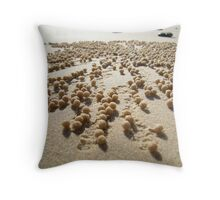 Sand Balls Throw Pillow
