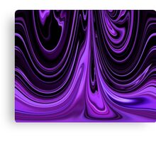 Purple Ribbon Flow Art Canvas Print