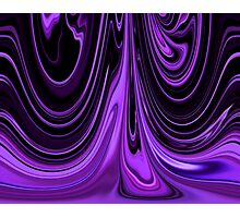 Purple Ribbon Flow Art Photographic Print
