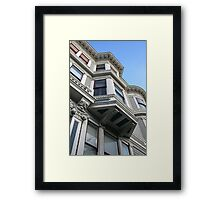 San Francisco Bay Window, Haight Ashbury, Victorian Heritage Framed Print