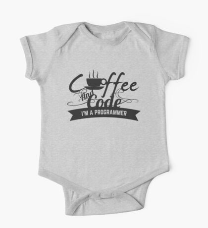 programmer : coffee and code. I am a programmer One Piece - Short Sleeve