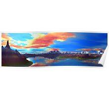 Spire Lake Sunset Poster