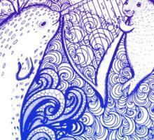 Music of the sea Sticker