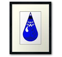 Blue Box Drop Framed Print
