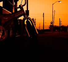 Gas Station Sunset by Mardynn