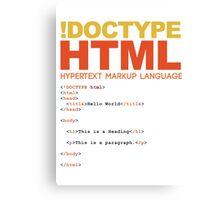 web design - HTML Canvas Print