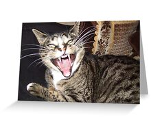Yawning Greeting Card