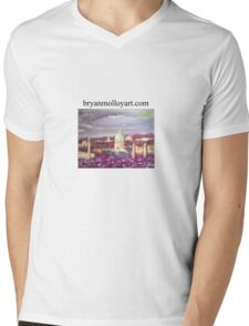 capitol at dawn from reservior park, hbg, pa, usa Mens V-Neck T-Shirt