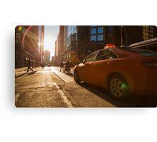 Morning Taxi Canvas Print