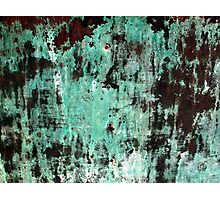 Copper Patina Grunge Texture Photographic Print