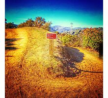Coyote Ridge Trail Photographic Print