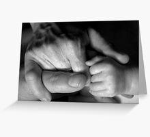 Mum, dad and baby Greeting Card