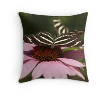 Zebra Longwing butterfly photography Throw Pillow