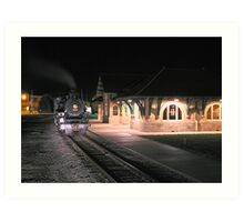 Train & Depot Art Print