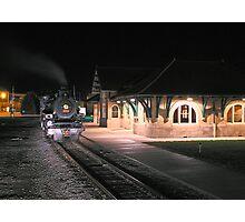 Train & Depot Photographic Print