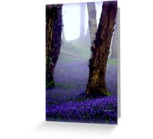 Bluebells in the Mist Greeting Card