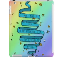 I don't need a boy iPad Case/Skin