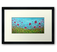 Playful Poppies of Provence Framed Print
