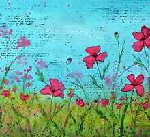 Playful Poppies of Provence by Carla Parris