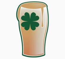 IRISH shamrock pint glass by jazzydevil