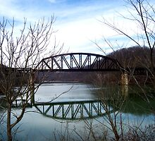 prickett forts train bridge  by melynda blosser