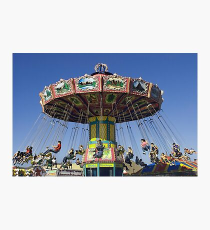swing around fair ride photograph Photographic Print