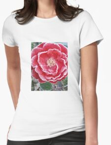 Red Rose - Icy Pedals Womens Fitted T-Shirt
