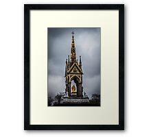 The Albert Memorial Amidst Clouds Framed Print