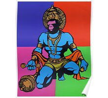HANUMAN inspired by Andy Warhol Poster