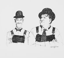 Laurel and Hardy by Paul Wolff