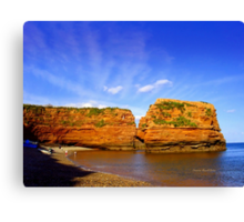 Red Rock in Sea Canvas Print