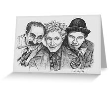 Marx Brothers Greeting Card
