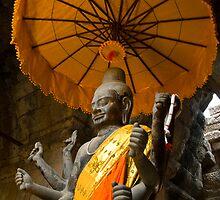 Vishnu - Angkor Wat, Cambodia by Stephen Permezel