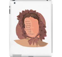 Firefly Floral Bonnet  iPad Case/Skin