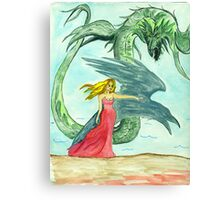Defense Against  Rehab the Serpent Canvas Print