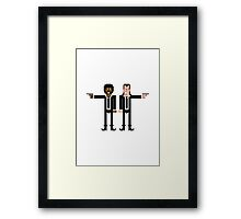 Pixel Vincent and Jules. Pulp Fiction. Framed Print