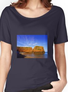 Red Rock in Sea Women's Relaxed Fit T-Shirt