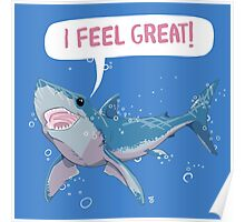 Shark Greatness is All About Attitude  Poster