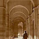 Archways in Paris, in sepia by Elana Bailey