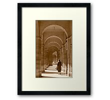 Archways in Paris, in sepia Framed Print