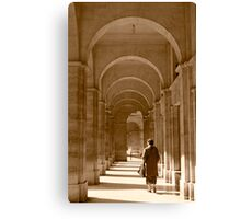 Archways in Paris, in sepia Canvas Print