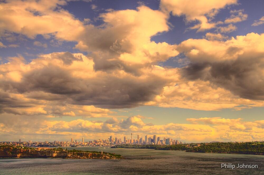Big Sky Big City - Moods Of A City # 5 - The HDR Series - Sydney Harbour, Sydney Australia by Philip Johnson