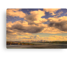 Big Sky Big City - Moods Of A City # 5 - The HDR Series - Sydney Harbour, Sydney Australia Canvas Print