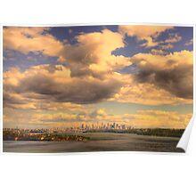 Big Sky Big City - Moods Of A City # 5 - The HDR Series - Sydney Harbour, Sydney Australia Poster