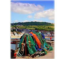 Fishing Nets on The Cobb Photographic Print