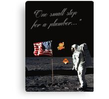 Goombas on the Moon (with text) Canvas Print