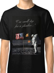 Goombas on the Moon (with text) Classic T-Shirt