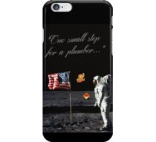 Goombas on the Moon (with text) iPhone Case/Skin