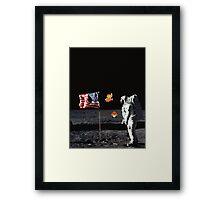 Goombas on the Moon  Framed Print
